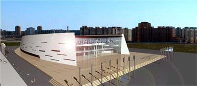 """Два месяца осталось до открытия Дворца спорта  """"Арена-Омск """".  Все работы на строительстве идут по графику."""