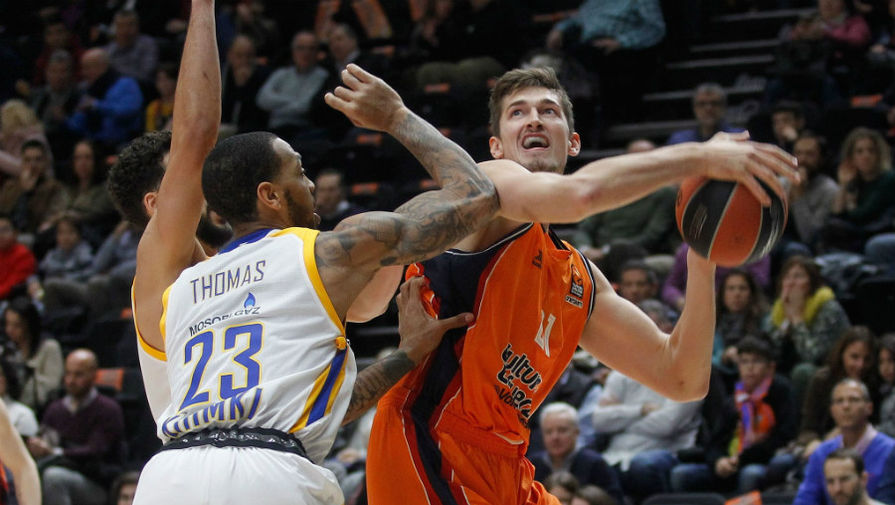 Баскетболисты подмосковных «Химок» проиграли навыезде «Валенсии»