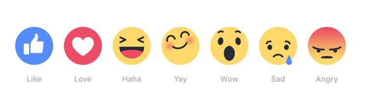 Facebook предоставит целую палитру эмоций, которыми можно оценить пост в соцсети
