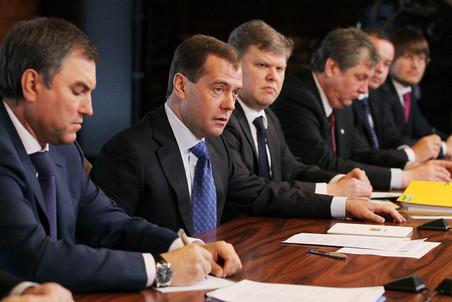 Дмитрий Медведев на встрече с представителями зарегистрированных политических партий