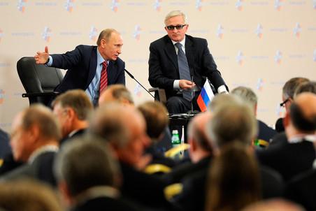 Владимир Путин на съезде РСПП