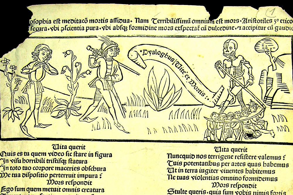 �������� ������� ������ Dyaloghus Vite et Mortis, ��������� [1480-� ��.]: ������� ����� ����� � ��������. ������� ���������� ����������� ������������, ����� ������ ���� � ���������