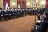 Сборная Италии на приеме и президента