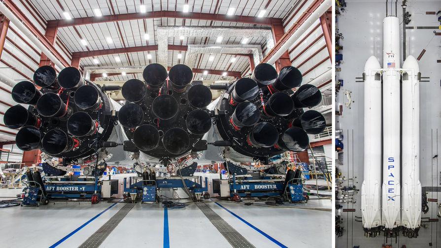 Илон Маск обнародовал фото сверхтяжелой ракеты Falcon Heavy