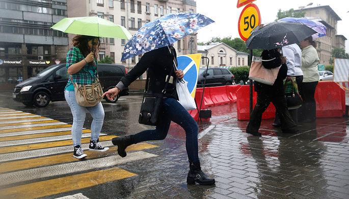 Сильные дожди ожидаются встолице доконца недели
