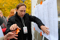 "Russia's official election agency calls vote to opposition council ""hit-parade"""