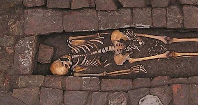 ВИталии найдены останки женщины, «родившей» вмогиле