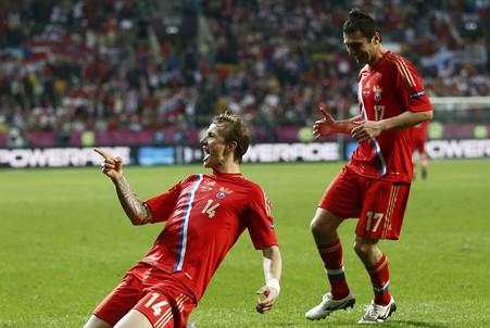 Роман Павлюченко забил четвертый мяч в ворота чехов