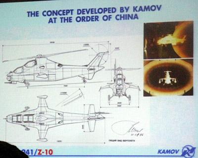 Проект, разработанный Камовым по заказу Китая. Фото Aviation Week с презентации Михеева