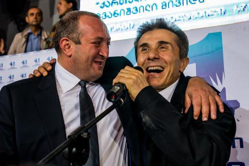 Новоизбранный президент Грузии Георгий Маргвелашвили и премьер-министр Грузии Бидзина Иванишвили