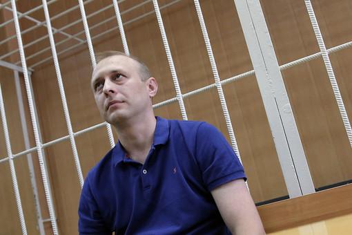 Дмитрий Митяев, обвиняемый по делу «Оборонсервиса», в зале Тверского суда