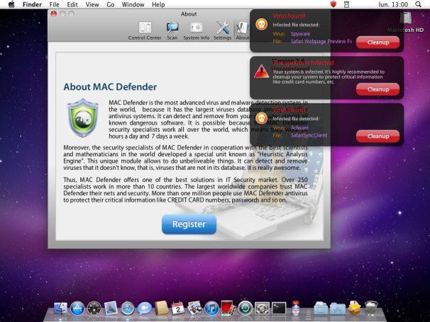 �������� Mac Defender ����� ������ ������������ Mac