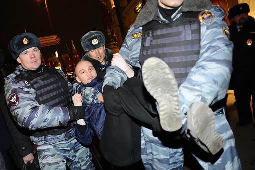 Задержание участников митинга в поддержку «узников Болотной»