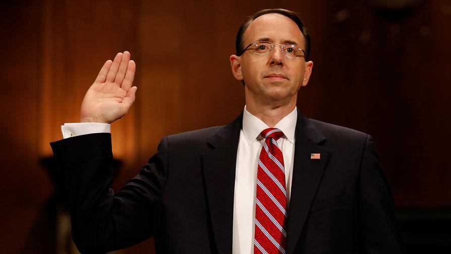 Замгенпрокурора США Розенстайн объявил оботставке