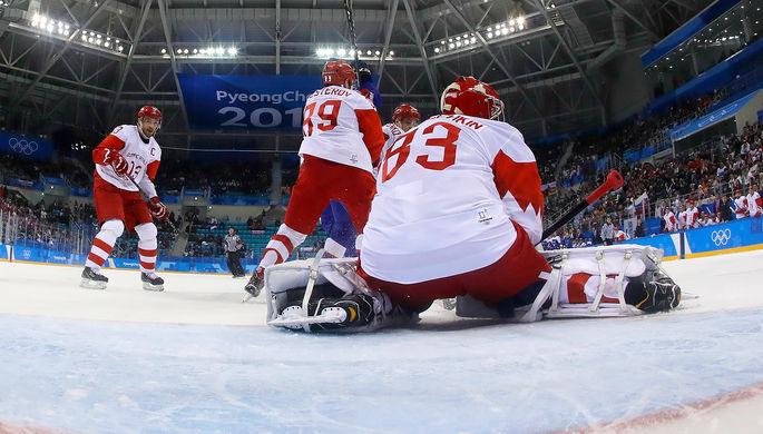 Русские хоккеисты проиграли словакам впервом матче наОлимпиаде