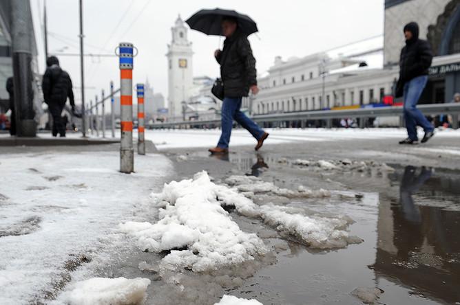 В столицеРФ предполагается мокрый снег игололедица— МЧС