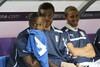 Марио Балотелли на скамейке запасных