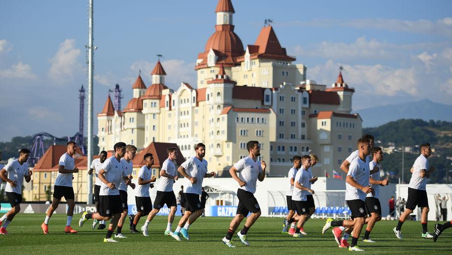 Футболисты сборной Германии на тренировке в Сочи