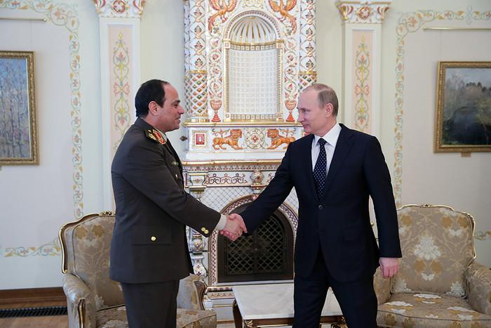 Путин прибыл вЕгипет срабочим визитом