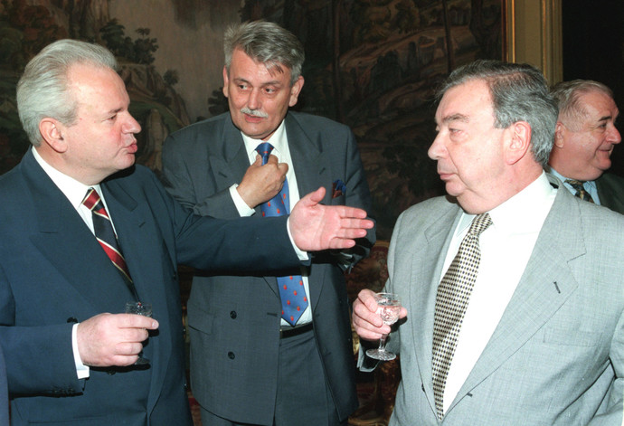 Слободан Милошевич и Евгений Примаков, 1999 г.