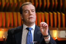 Medvedev on issues, discussing problems as seen online: &quot;we don't care&quot;