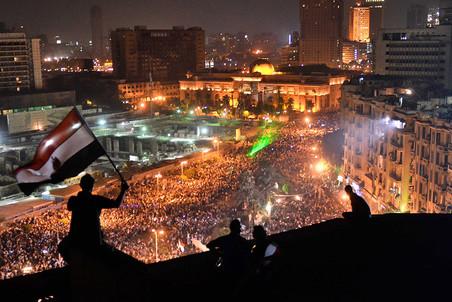 Протесты в центре Каира, Египет