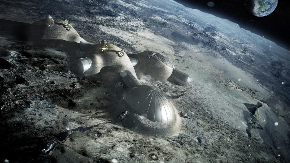 Интернет: База на луне напечатанная на 3D принтере из лунного грунта