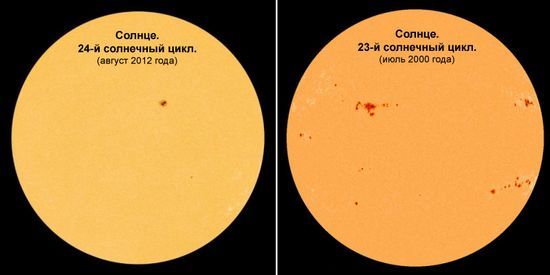 ������� ��� ������ (�����; ������ ������� ������������� SDO 14 ������� 2012 ����) � ��� ������ ������ ��������� ����������� ���������� ����� (������; ������ ������� ������������� SOHO 15 ���� 2000 ����) // tesis.lebedev.ru