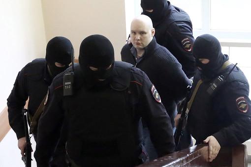 Даниил Константинов, обвиняемый в убийстве Алексея Темникова, во время оглашения приговора в Чертановском суде