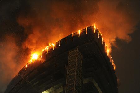 В Москве загорелась одна из башен «Федерация» комплекса Москва-Сити