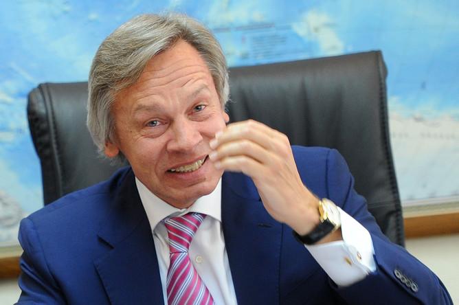 Пушков стихами ответил напланы украинской столицы расширить вещание вКрыму
