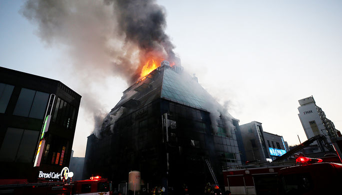 ВЮжной Корее впожаре  вфитнес-центре погибло 16 человек