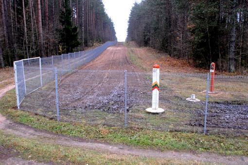 Забор на границе Латвии и Белоруссии