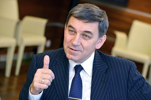 Генеральный директор РНФ Александр Хлунов перед началом пресс-конференции