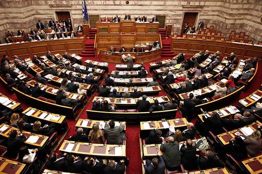 Заседание греческого парламента