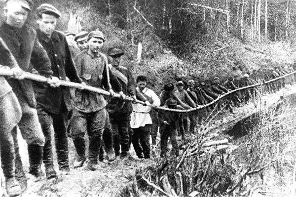 Заключенные ГУЛАГа, 1929 год. Репродукция Фотохроники ТАСС