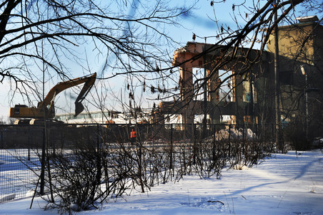 В Москве начался снос стадиона «Динамо»