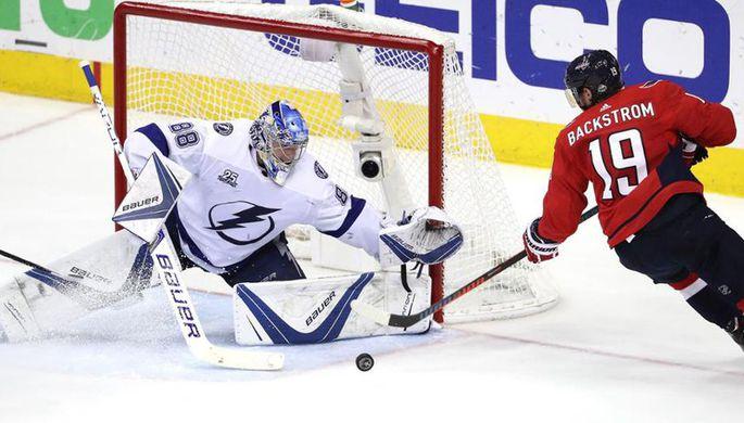 «Тампа» одолела «Вашингтон» исравняла счёт вполуфинальной серии плей-офф НХЛ
