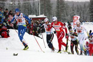 Российские лыжники финишировали вторыми в эстафете на этапе Кубка мира