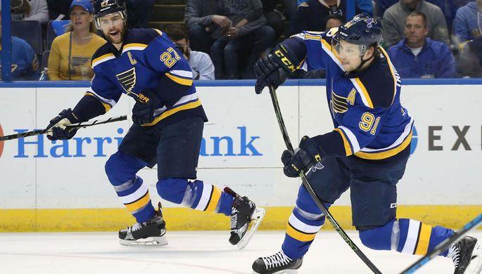Шайба Тарасенко принесла победу «Сент-Луису» над «Виннипегом» вматче НХЛ