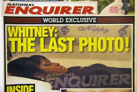 Журнал National Enquirer опубликовал на обложке посмертное фото Уитни Хьюстон