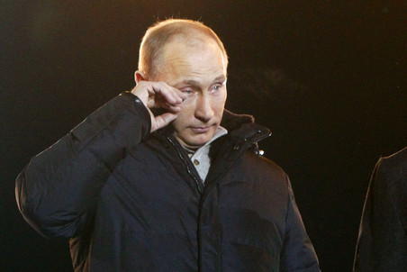 Putin explains tears during speech: it was windy  — Gazeta.Ru