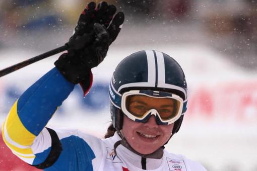 Украинская горнолыжница Богдана Мацецкая