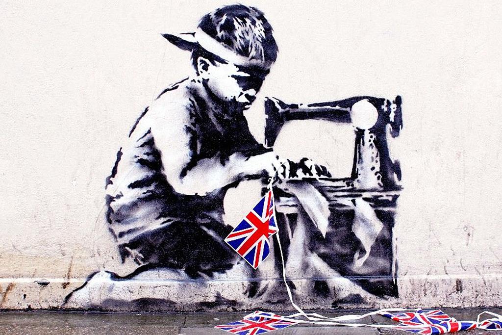 Граффити «Рабский труд» Бэнкси, вырезанное из стены и проданное на частном аукционе