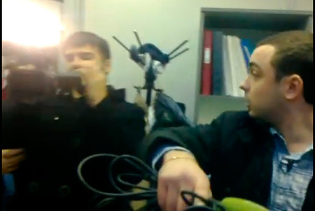 Last week the state-run TV channel workers broke into the Golos office in Moscow