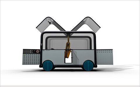 Дизайнеры изобрели автомобиль-коробку