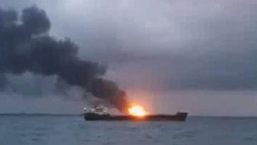 Русских моряков нет нагорящих вКерченском проливе кораблях