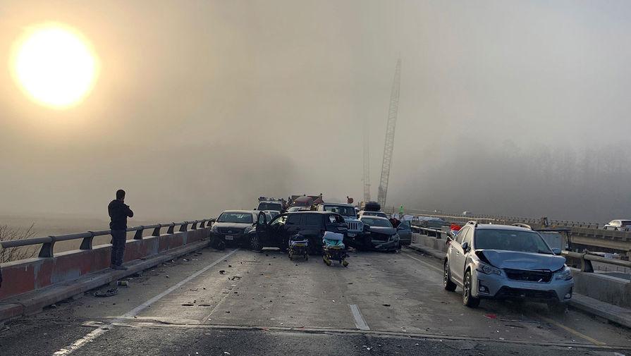 ВСША произошла авария сучастием 69 авто, неменее 50 пострадавших