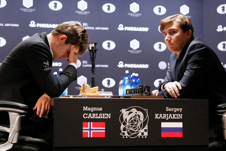 Карякин сыграл вничью сКарлсеном в 5-й раз
