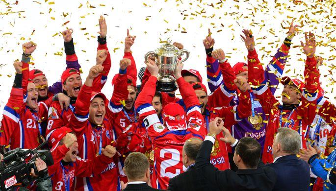 Путин поздравил спортсменов спобедой начемпионате мира похоккею смячом